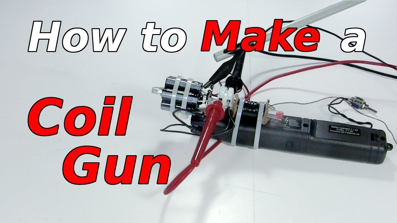 How To Make A Coil Gun Using Fly Swatter Youtube The Circuit Is Designed Produce Technology Of