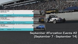 Forza Motorsport 7 - September #Forzathon Events #2 (September 7 - September 14)