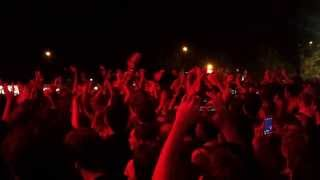 I MINISTRI , NEL CLASSICO MOMENTO CROWD SURFING DI DAVIDE [HOME FESTIVAL TREVISO 07 09 2013]