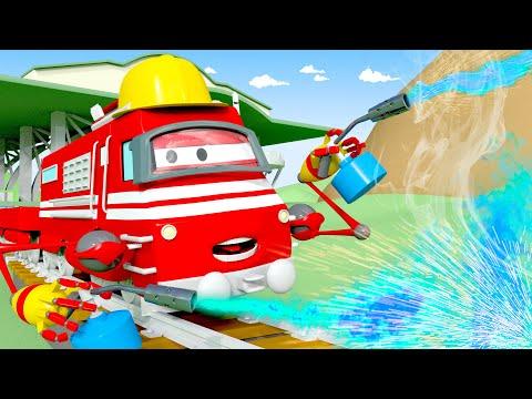 Troy o Trem - Troy conserta o Sargento Trem Bala! - Cidade do Trem 🚄 Desenhos animados