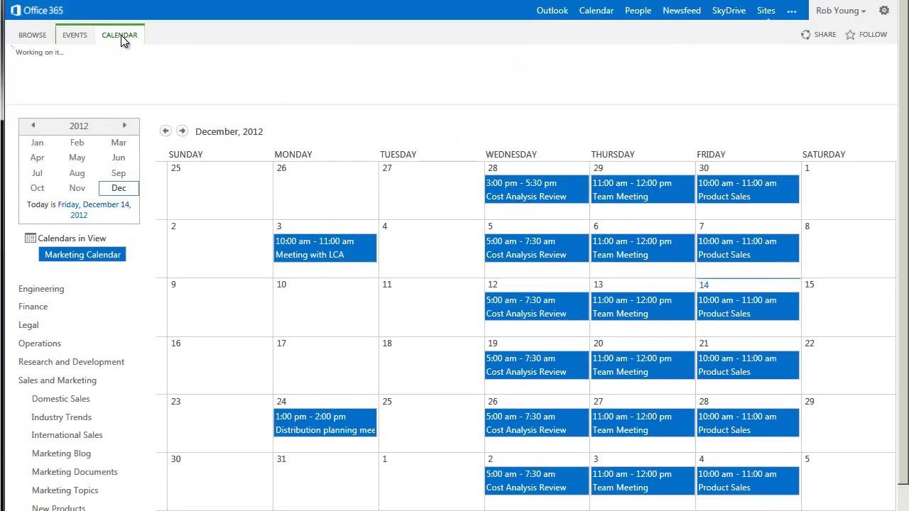 how to add calendar to sharepoint home page