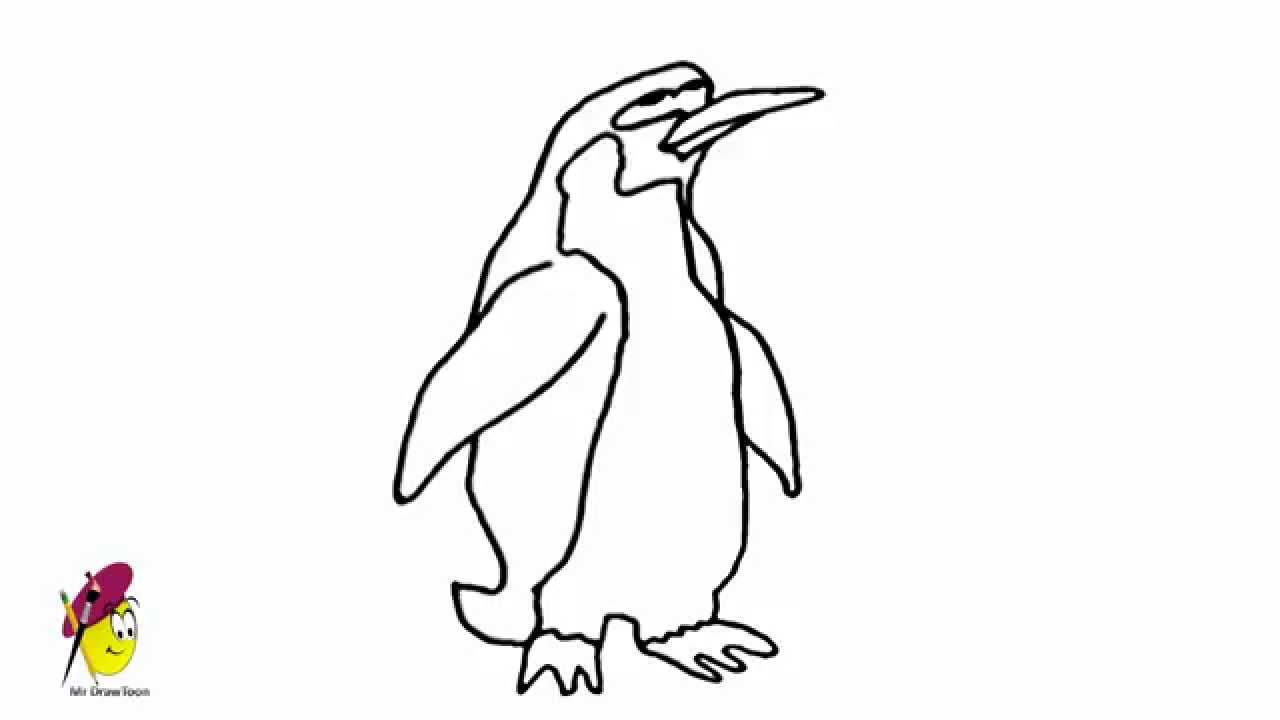 penguins birds and animals easy drawing how to draw penguins