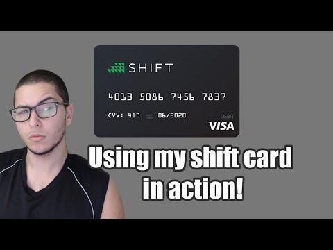 SHIFT CARD | USING MY SHIFT CARD! | THE BITCOIN VISA CARD?!