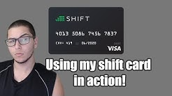 SHIFT CARD | USING MY SHIFT CARD! | THE BITCOIN VISA CARD?!