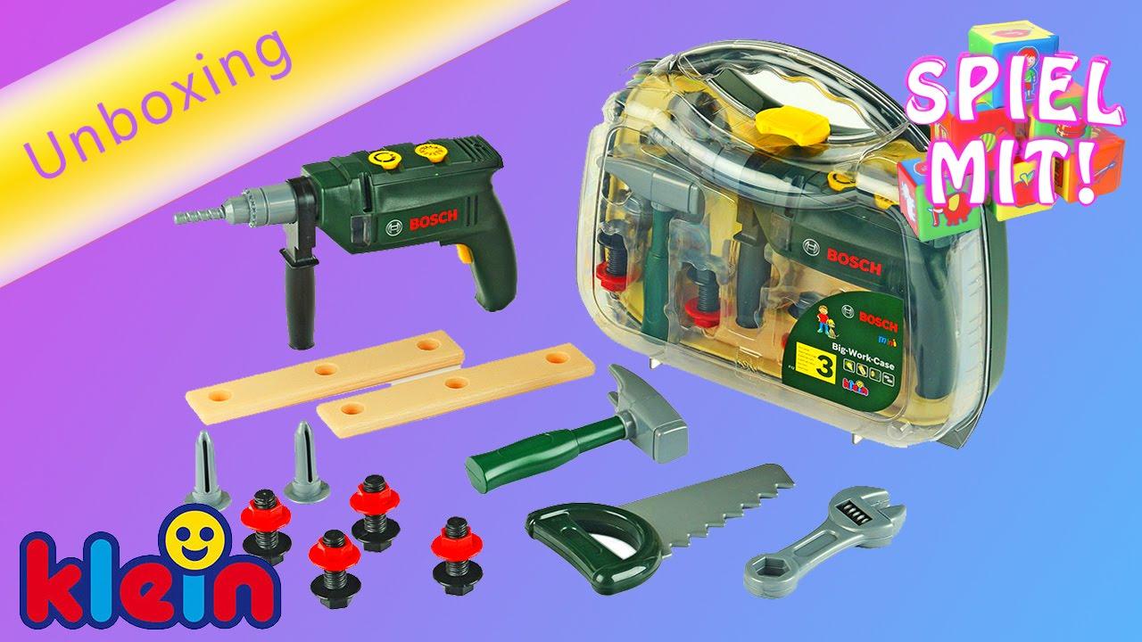 bosch werkzeugkoffer mit akkuschrauber kinderspielzeug. Black Bedroom Furniture Sets. Home Design Ideas
