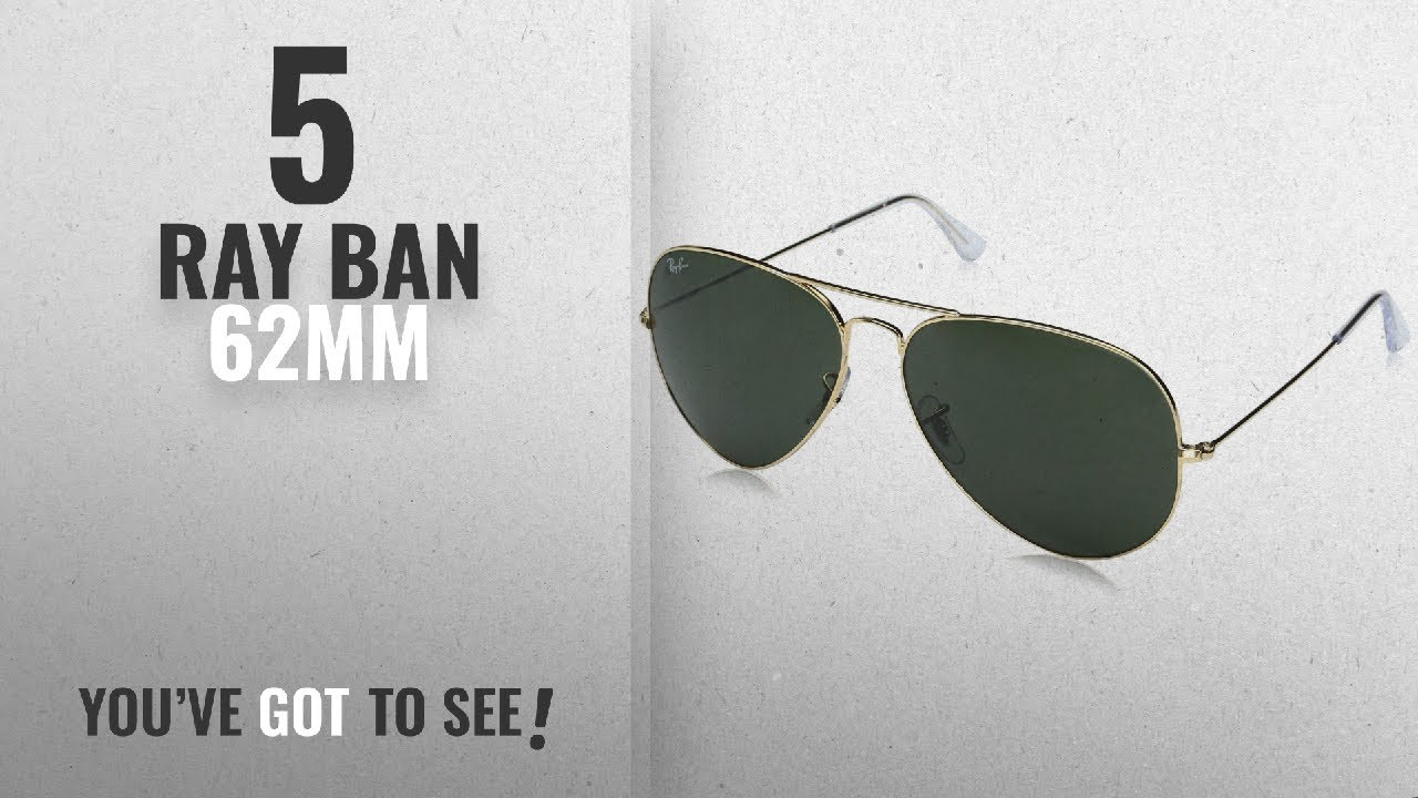 285388db2e Top 10 Ray Ban 62Mm   Winter 2018    Ray-Ban Aviator Classic