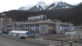 Krasnaya Polyana Welcomes Olympic Guests with Hills, Flags and Fireworks