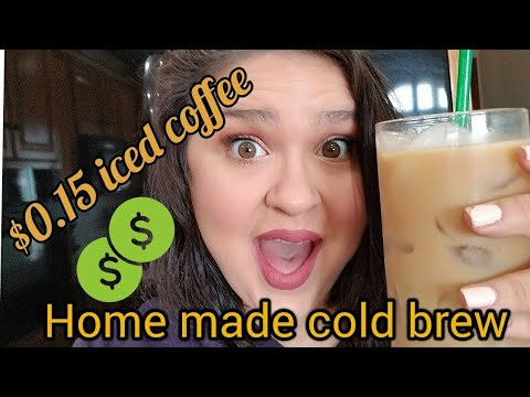 Easy iced coffee recipe l Sugar Free cold brew at home!