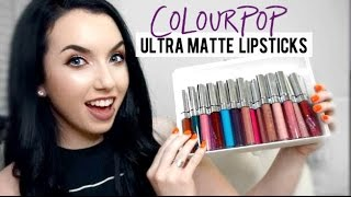 COLOURPOP ULTRA MATTE LIQUID LIPSTICKS | Honest Review & Thoughts