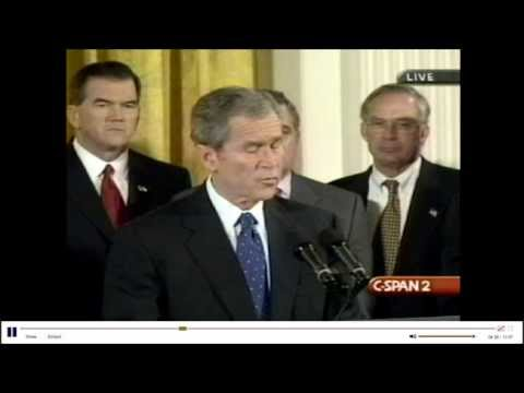"George Bush Signs ""USA Patriot Act"""