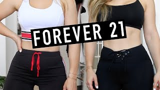FOREVER 21 NEW ACTIVEWEAR LINE TRY ON HAUL