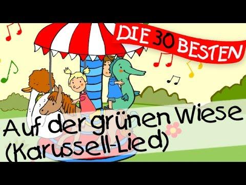Auf der grünen Wiese (Karussellied) - Bewegungslieder zum Mitsingen || Kinderlieder