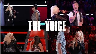 Christina sings with contestant on The Voice (Blind Auditions Only)