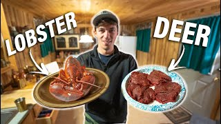 TASTY North Woods SURF & TURF Catch and Cook!! (Cabin Cook)