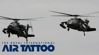 RIAT 2015 | US Army Europe AH-64D Apache & UH-60+ BlackhawkBlack Arrival