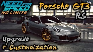 NFS No Limits | Porsche GT3 RS   Customization + Upgrade (6* maxxed)