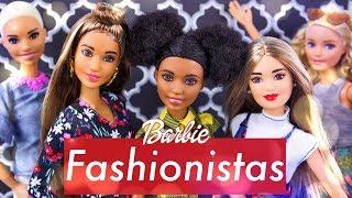 Unbox Daily: Barbie Fashionista MEGA HAUL | Petit | Curvy | Tall | ALL New Hair Styles & Fashion