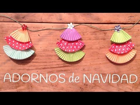 Arbol de navidad con cupcakes, ideas divertidas de manualidades para niños con papel