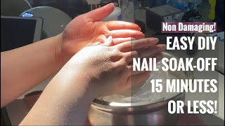 EASY DIY Nail Soak Off In 15 Minutes Or Less!  Creatively Jess Nail Tutorial