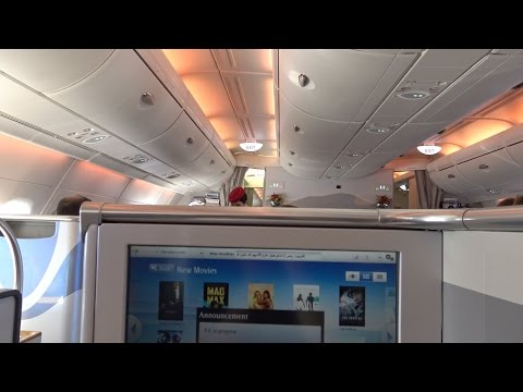A380 Emirates Business Class EK413: Auckland to Sydney + giv