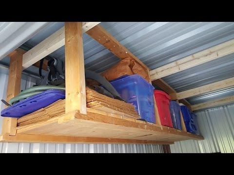 Storage Shed Overhead Shelf