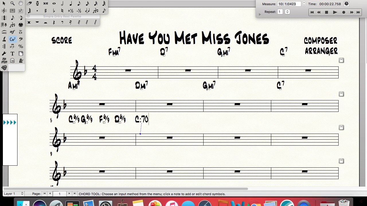 How To Put 69 Chord Symbols Into Finale Youtube