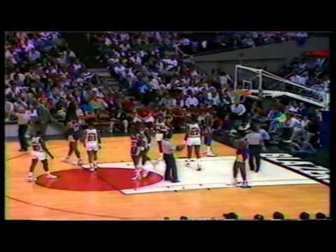 Clyde Drexler 43 Point Game Vs The LA Lakers