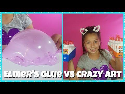 ELMER'S GLUE VS CRAZY ART GLUE