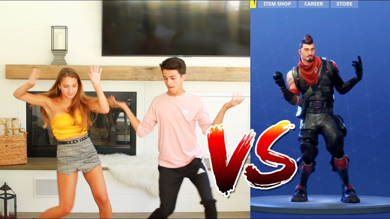 Fortnite Dance Challenge With Sister In Real Life Brent Rivera