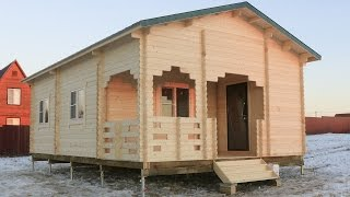 видео Проект дома из бруса с мансардой Курск