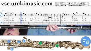 Уроки флейты Imagine Dragons - Thunder Ноты Самоучитель um-i821