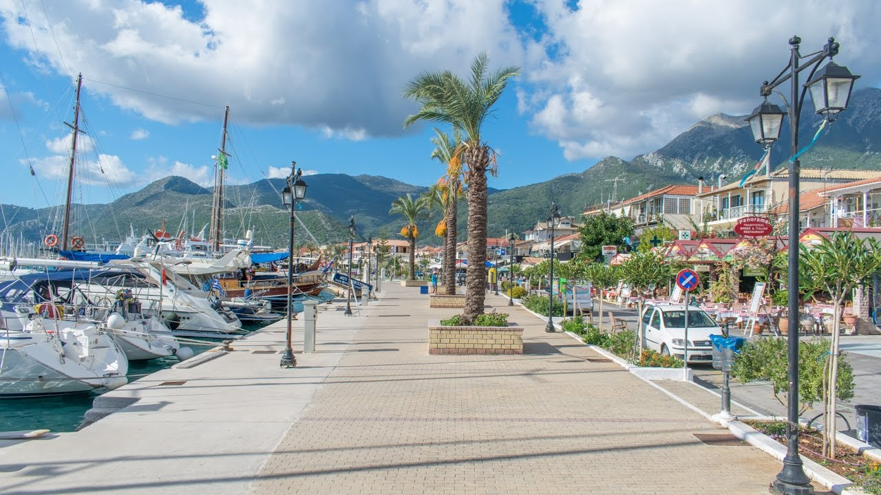 Nidri on Lefkada island, Greece - YouTube