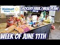 GROCERY HAUL & MEAL PLAN | WALMART | FAMILY OF 4 | 6/11/18