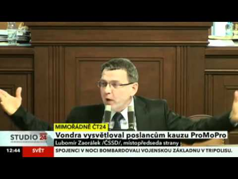 Lubomír Zaorálek: Vondrova omluva v kauze ProMoPro je nesmyslná a falešná
