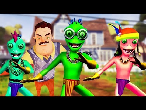 The Weird Dancing Aliens Are Back... | Hello Neighbor Mobile Ripoff