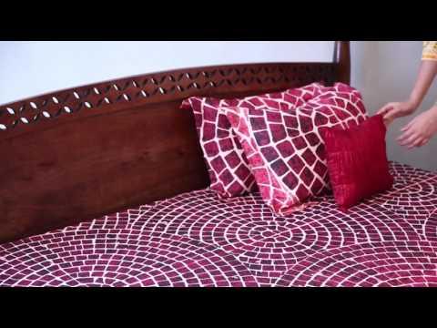 Double Bed - Vanesa Poster Bed Teak Finish Online In India @ Wooden Street