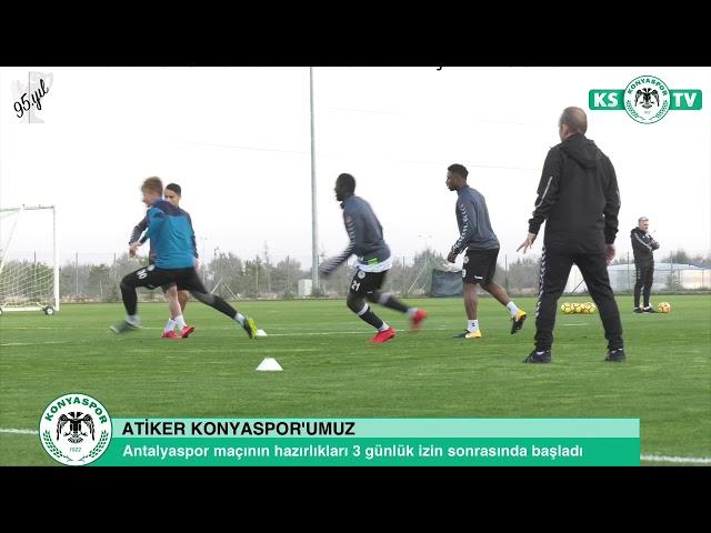 Takımımız Antalyaspor maçının hazırlıklarına 3 gün aradan sonra başladı
