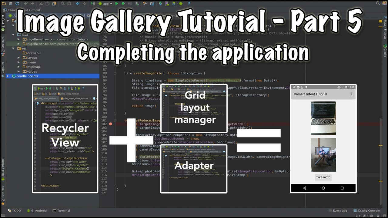 Make a gallery app in android studio || hindi tutorial youtube.