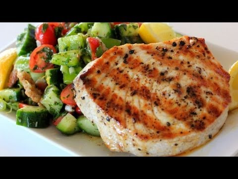 Grilled Swordfish Over Fattoush