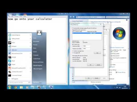 How To Allocate Virtual Memory (windows 7)