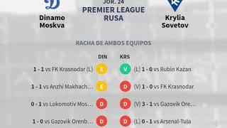 Previa Dinamo Moskva vs Krylia Sovetov - Jornada 24 - Premier League R... - Pronósticos y...