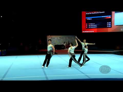 China 1 (CHN) - 2018 Acrobatic Worlds, Antwerpen (BEL) - Balance  Men's Group