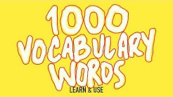 How To Learn And Use 1000 English Vocabulary Words