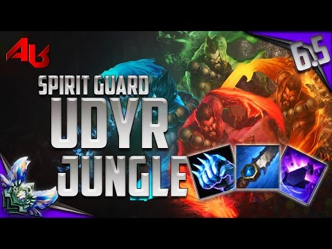 OP!!! Diamond Spirit Guard Udyr Jungle Season 6 Full Game Commentary - League of Legends