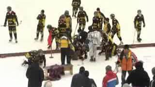 Драка на льду,Чемпионат России по хоккею с мячом среди юношей