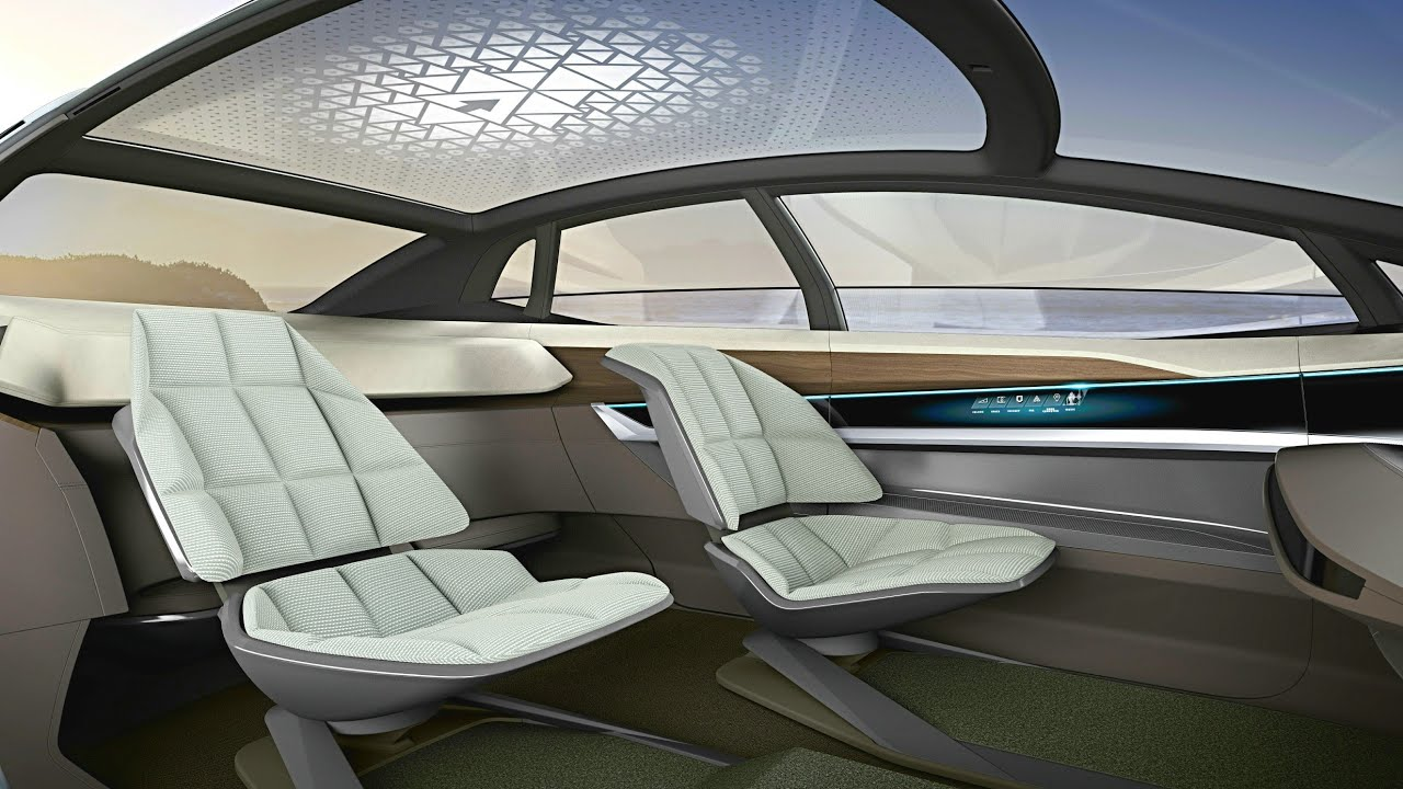 audi aicon concept interior high tech living room on wheels luxury suv level 5 autonomous. Black Bedroom Furniture Sets. Home Design Ideas