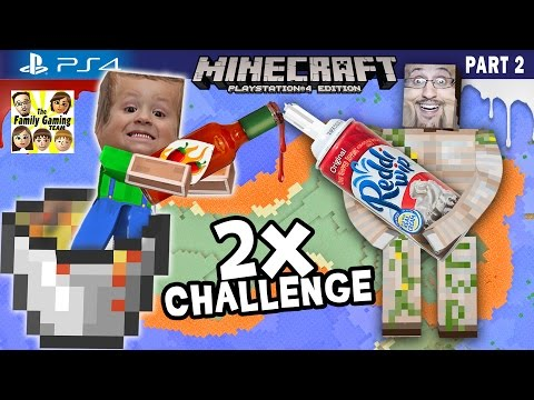 Minecraft Hot Sauce & Whipped Cream Challenge + Lava Island Golems (FGTEEV PS4 Part 2 Gameplay)
