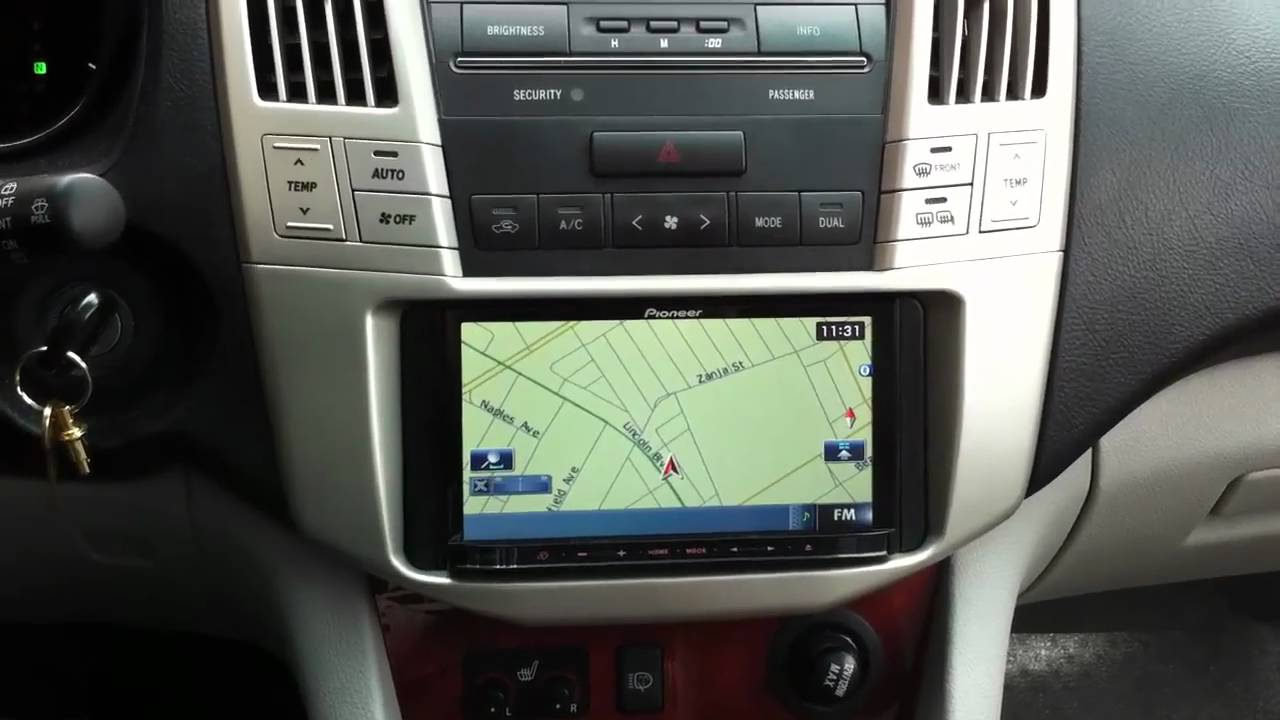Pioneer Stereo Wiring Diagram Ge Xl44 Oven Avic-z120bt Lexus Rx330 Navigation Bluetooth Ipod - Youtube
