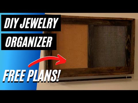 DIY Cork and Metal Jewelry Organizer | How to Build Tutorial