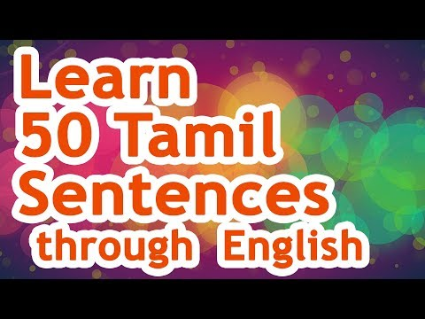 50 Tamil Sentences (01) - Learn Tamil through English!